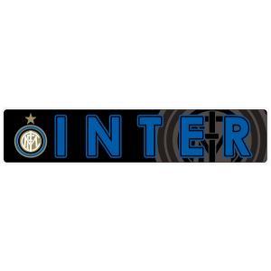 インテルミラノ(黒) バンパーステッカー|footballfan