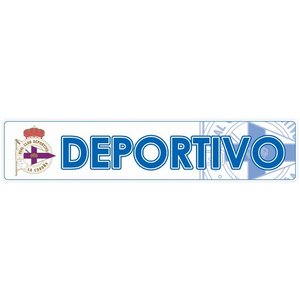 デポルティボラコルーニャ(白) バンパーステッカー|footballfan