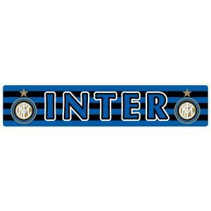 インテルミラノ(ボーダー) バンパーステッカー footballfan