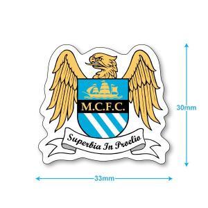 マンチェスターシティ ミニステッカー(携帯シール)|footballfan
