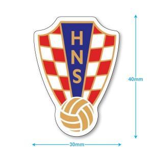 クロアチア代表 ミニステッカー(携帯シール)|footballfan