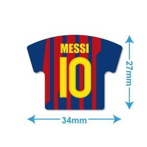 メッシ(FCバルセロナ 10)ユニフォーム型ミニステッカー〔HOME〕|footballfan