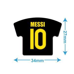 メッシ(FCバルセロナ 10)ユニフォーム型ミニステッカー〔AWAY〕|footballfan