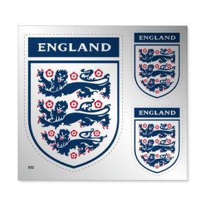 イングランド代表 シルバーステッカー|footballfan