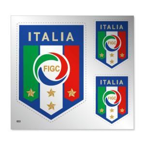 イタリア代表 シルバーステッカー|footballfan