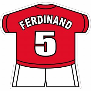 ファーディナンド(マンチェスターユナイテッド 5) ユニフォーム型ステッカー|footballfan
