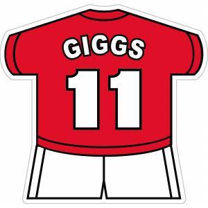 ギグス(マンチェスターユナイテッド 11) ユニフォーム型ステッカー|footballfan