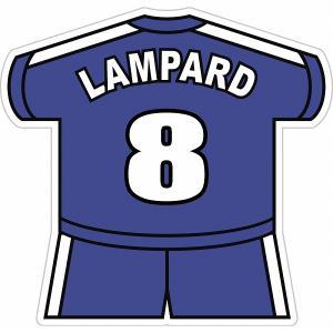 ランパード(チェルシー 8) ユニフォーム型ステッカー|footballfan