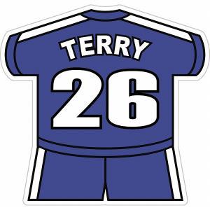 テリー(チェルシー 26) ユニフォーム型ステッカー|footballfan