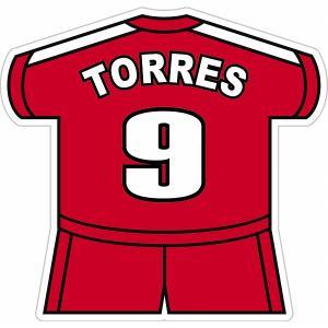 フェルナンド・トーレス(リバプールFC 9) ユニフォーム型ステッカー|footballfan