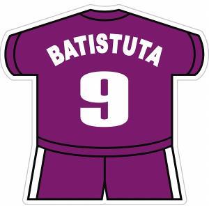 バティストゥータ(フィオレンティーナ 9) ユニフォーム型ステッカー|footballfan