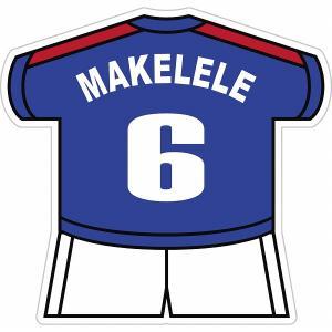 マケレレ(フランス代表 6) ユニフォーム型ステッカー|footballfan