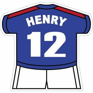 アンリ(フランス代表 12) ユニフォーム型ステッカー|footballfan