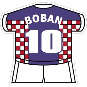 ボバン(クロアチア代表 10) ユニフォーム型ステッカー|footballfan