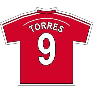 トーレス(リバプールFC 9)ユニフォームステッカー|footballfan