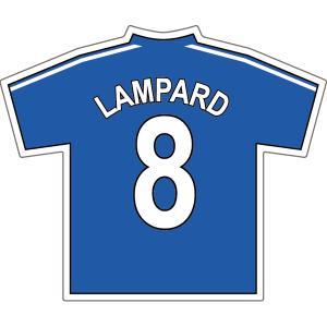 ランパード(チェルシー 8)ユニフォームステッカー|footballfan