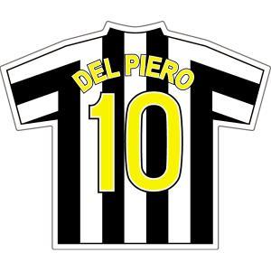 デルピエロ(ユベントス 10)ユニフォームステッカー|footballfan