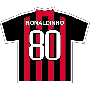 ロナウジーニョ(ACミラン 80)ユニフォームステッカー|footballfan