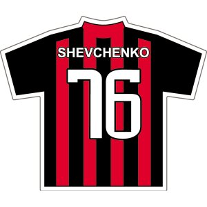 シェフチェンコ(ACミラン 76)ユニフォームステッカー|footballfan