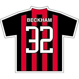 ベッカム(ACミラン 32)ユニフォームステッカー|footballfan