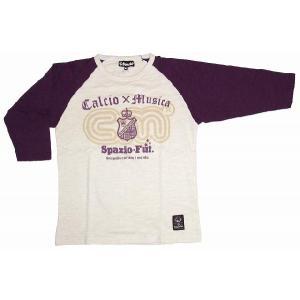 SPAZIO スパッツィオ 七分Tシャツ【CM】パープル[TP-0064-20]|footballfan