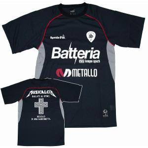 SPAZIO スパッツィオ プラクティスシャツ【Metallo】ブラック[GE-0052-02]|footballfan