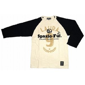 SPAZIO スパッツィオ 七分Tシャツ【Laura】ブラック[TP-0063-02]|footballfan