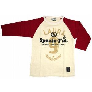 SPAZIO スパッツィオ 七分Tシャツ【Laura】レッド[TP-0063-26]|footballfan