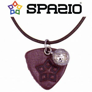 【SPAZIO スパッツィオ】レザーピックネックレス/レッド[AC-0015]|footballfan
