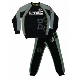 【SPAZIO スパッツィオ】color クラースウェットセット/ブラック[TP-0198]|footballfan