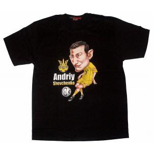 シェフチェンコ ウクライナ代表  Tシャツ(黒)|footballfan