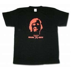 クライフ CRUYFF/オランダ代表(ミュンヘン74) Tシャツ(ブラック)|footballfan