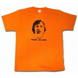 クライフ CRUYFF/オランダ代表(ミュンヘン74) Tシャツ(オレンジ)|footballfan