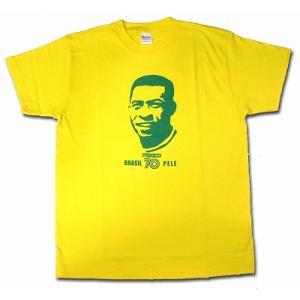 ペレ PELE/ブラジル代表(メキシコ70) Tシャツ(イエロー)|footballfan