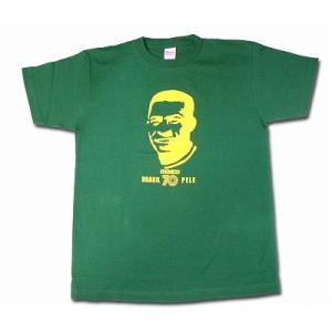 ペレ PELE/ブラジル代表(メキシコ70) Tシャツ(グリーン)|footballfan