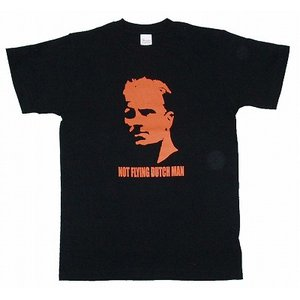 ベルカンプ -Not Flying Dutchman- Tシャツ(黒)|footballfan