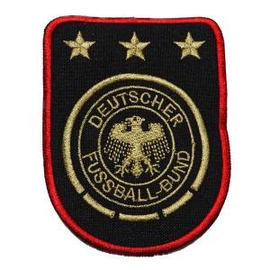 ドイツ代表(黒×GOLD×赤) エンブレムワッペン|footballfan