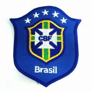 ブラジル代表(青) エンブレムワッペン|footballfan