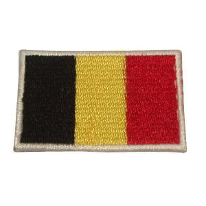 ベルギー 国旗・ワッペン(小) footballfan