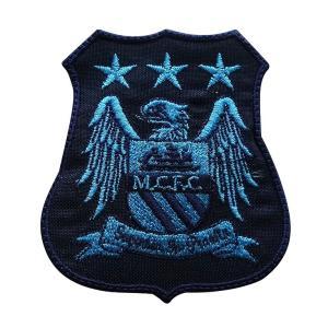 マンチェスターシティ(紺×水色) エンブレムワッペン〔wap296〕|footballfan