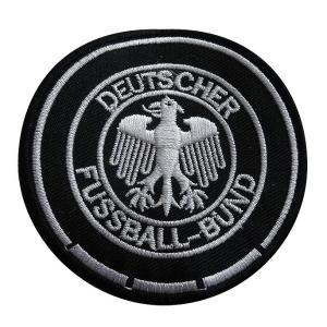 ドイツ代表(黒×白) エンブレム ワッペン〔wap310〕 footballfan