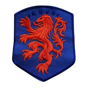 オランダ代表(青) エンブレムワッペン〔wap315〕 footballfan