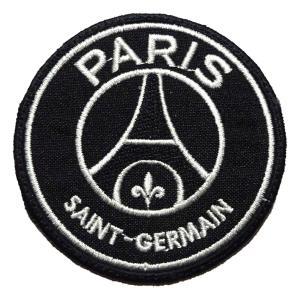 パリサンジェルマン(黒×黒) エンブレムワッペン〔wap363〕|footballfan