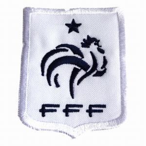フランス代表(白・小) エンブレムワッペン〔wap368〕 footballfan