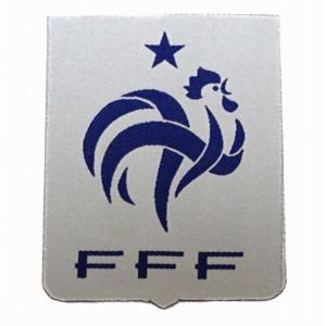 フランス代表(白) エンブレムワッペン〔wap376〕 footballfan