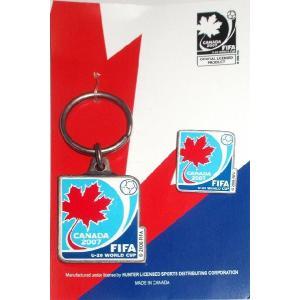 FIFAワールドユース2007 カナダ大会 キーホルダー&ピンバッジ セット|footballfan