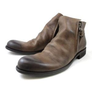 アルジス ブーツ ARGIS サイドジップブーツ メンズ 12112 〔DBR〕|footmonkey