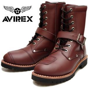 AVIREX YAMATO AV2100 アビレックス ブーツ ヤマト CHERRY BROWN メ...