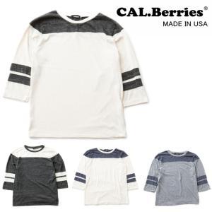 カルベリーズ CAL.Berries SHORELINE FOOTBALL TEE 35tj010 フットボールTシャツ 7分丈 長袖|footmonkey