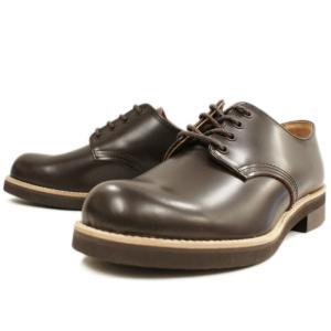 Locking Shoes ロッキングシューズ by FootMonkey フットモンキー PLAIN TOE OXFORD 1030 ダークブラウン footmonkey